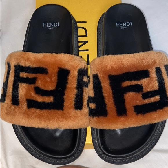 Fendi Shoes | Fendi Fur Slides | Poshmark